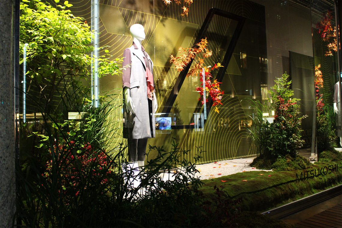 日本橋三越 ウィンドウ&店内ディスプレイ 「2017彩り祭」