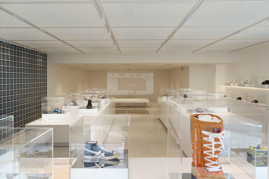 オニツカタイガー ディスプレイデザイン 「アーカイブ ミュージアム」